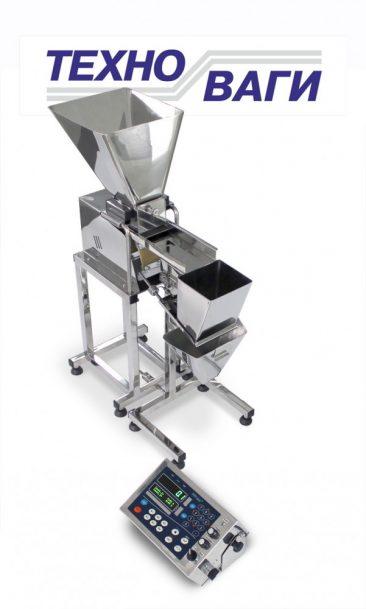 Вібраційна настільна фасувальна машина для сипучих продуктів в готову тару