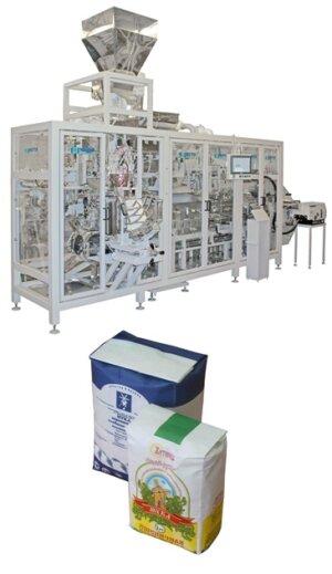 Автомат для фасування борошна і круп в паперові пакети