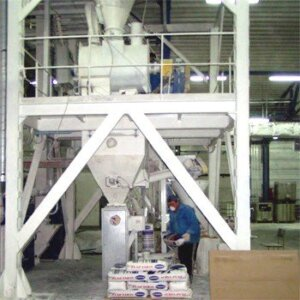 Building mixture production line