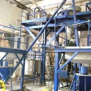 Equipment for the production of aerated concrete