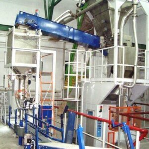 Mineral fertilizers packing line