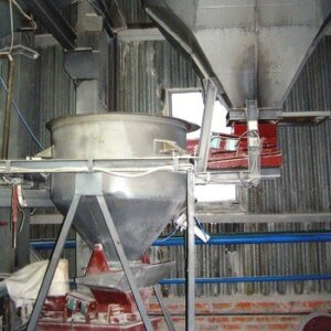 Glass mixture preparation line