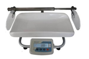 Baby medical scales with telescopic height meter