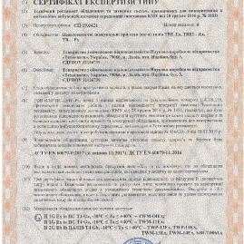 Сертифікат вибухозахист ТВЕ