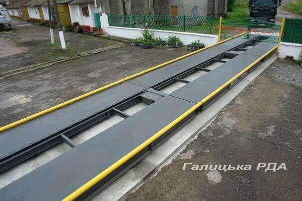 Освящение новых автомобильных весов «Оптима-S» производства завода «Техноваги» на Галицком КХП